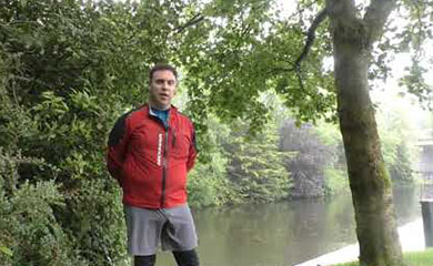 Day 5 – Longwood to Maynooth. Owen Conlan on National Famine Way in Enfield Harbour