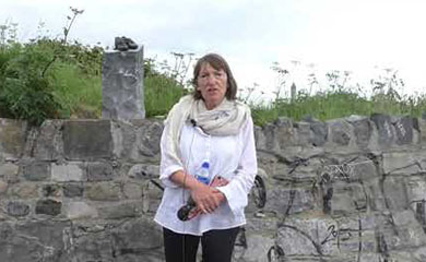 Day 6 – Maynooth to Dublin. Christine Kinealy at Glasnevin Cemetery on the Famine and legacy of Daniel O'Connell